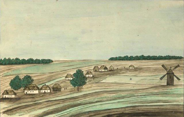 Виноградарь, Воскресенка и ДВРЗ: микрорайоны Киева и почему они так называются, Photo: Википедия, рисунок Де ля Флиз, 1854 год.