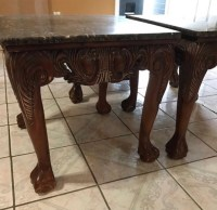 Living room table set marble and wood for sale in Houston ...