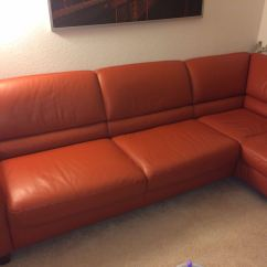 Orange Color Sofa Curved Italsofa Leather Sectional Quotterracota Quot Beautiful