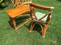 Vintage bamboo couch, chair and end table for sale in ...