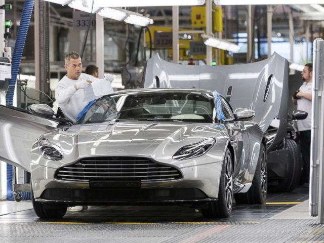 PHOTO: It takes 50 hours to paint each Aston Martin vehicle.