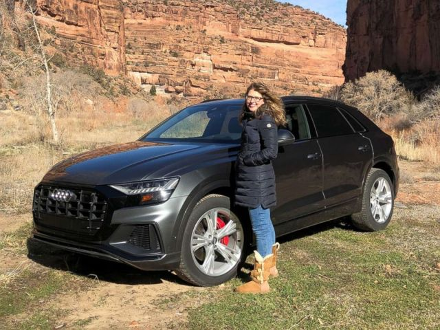 PHOTO: ABC News Morgan Korn drove the new Audi Q8 from Park City, Utah, to Telluride, Colorado, in January.
