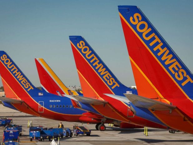 PHOTO: Southwest Airlines Boeing 737 planes prepare for takeoff at William P. Hobby international airport in Houston, Texas, on Nov. 18, 2015.