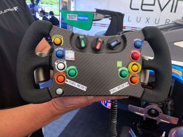 PHOTO: The steering wheel from the Lexus RC F GT3.