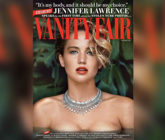 Photo Actress Jennifer Lawrence Appears On The Cover Of The November 2014 Issue Of