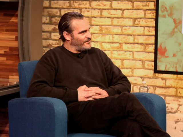 PHOTO: Joaquin Phoenix appears on Popcorn with Peter Travers at ABC News Studios in New York City, April 3, 2018.