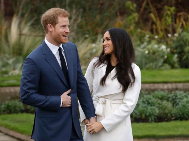 PHOTO: Prince Harry and Meghan Markle pose for photographers in the grounds of Kensington Palace in London, following the announcement of their engagement, Nov. 27, 2017.
