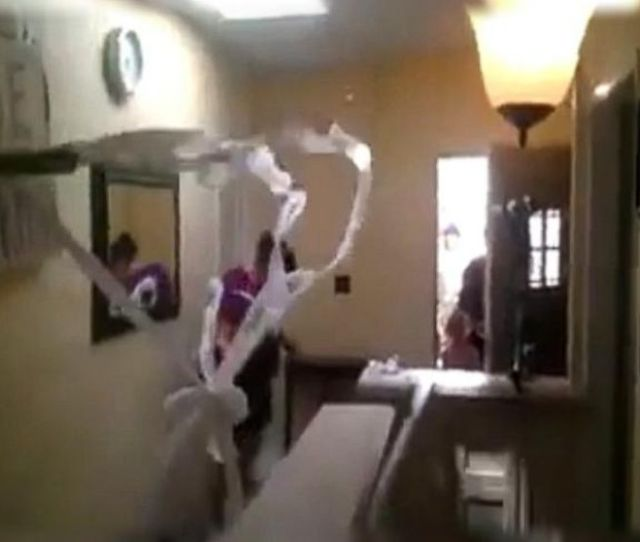 Dad And Son Ambush Mom With Homemade Toilet Paper Shooter