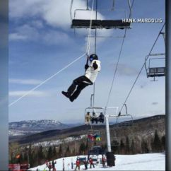 Ski Chair Lift Malfunction Covers Limerick Panicked Riders Jump Off During Video Abc News
