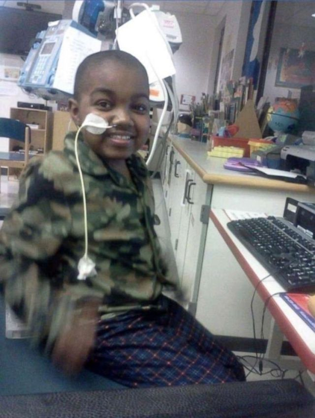 Marquis Davis, now 17, had open heart surgery at 5 days old and his first heart transplant when he was 3.Porsha Jackson