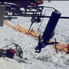 Ski Chair Lift Menards Outdoor Cushions Skiers Tossed From Malfunctioning Chairlift Video Abc News
