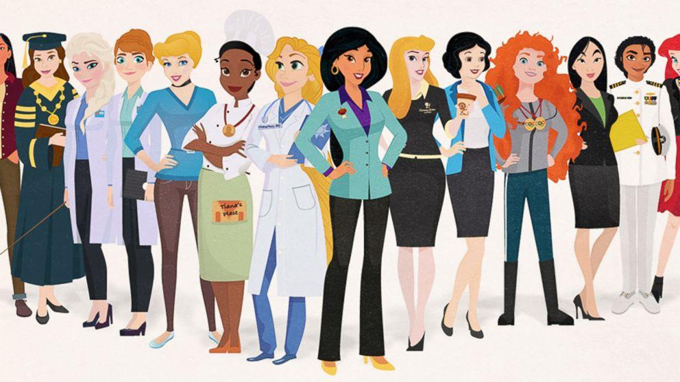 disney princesses illustrated as