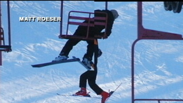chair lift accident grey slipcovers caught on tape teen falls off ski video abc news