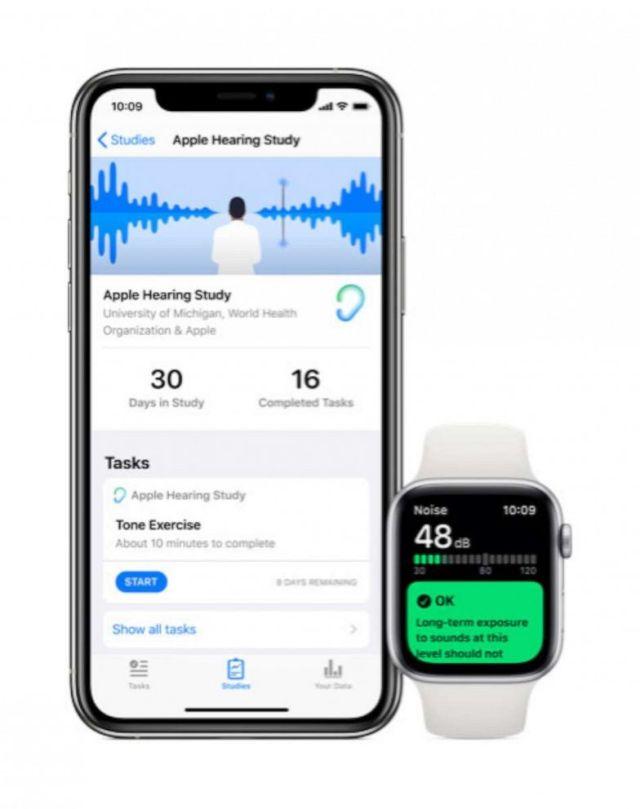 FOTO: Con la nueva aplicación de Apple para Apple Watches, las personas pueden inscribirse en estudios y participar.