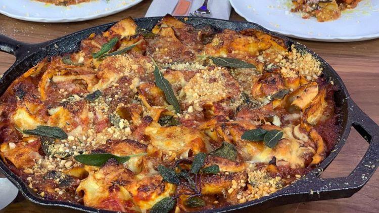 How to make scruffy eggplant lasagne