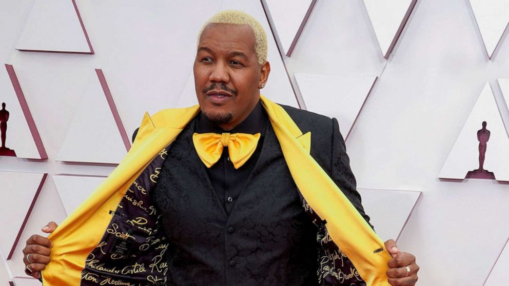 PHOTO: Travon Free arrives to the 93rd Academy Awards in Los Angeles, April 25, 2021.