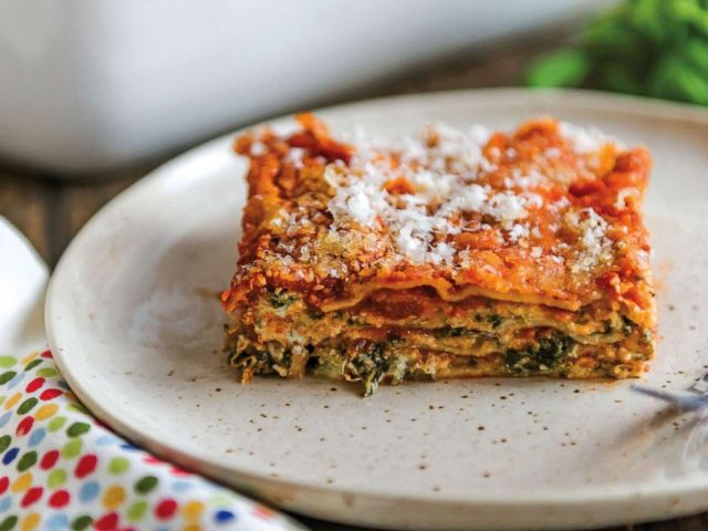 PHOTO: The easiest spinach lasagna from Lisa Leake.