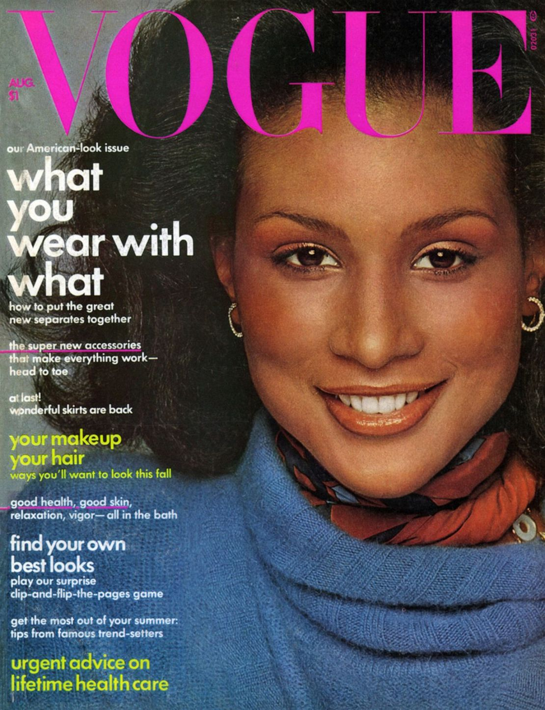 PHOTO: Vogue cover, August 1974.