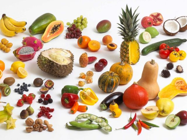 PHOTO: Fruits, vegetables and nuts are pictured in an undated stock photo.