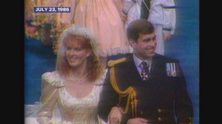 The couple married at Westminster Abbey in London.
