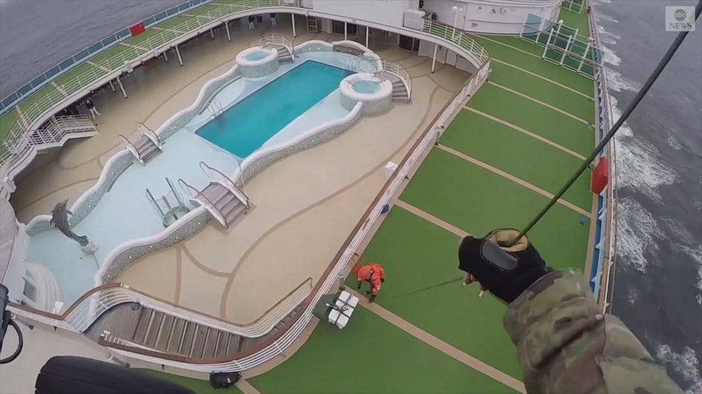 National Guard delivers coronavirus test kits to cruise ship Video ...