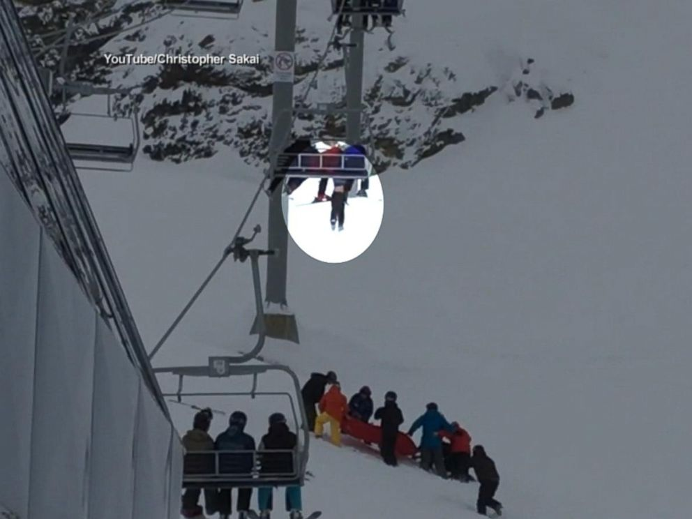 Boy Dangling From Ski Lift Caught by QuickThinking