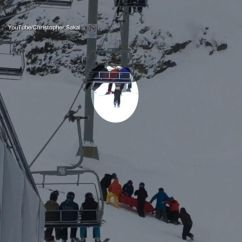 Ski Chair Lift Malfunction Thomas And Friends Table Chairs Boy Dangling From Caught By Quick-thinking Bystanders, Video Shows - Abc News