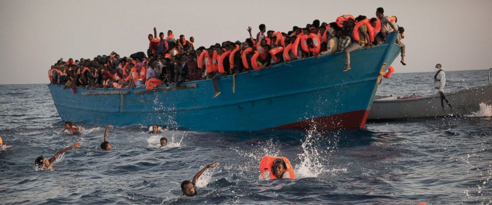Thousands of Refugees Rescued Off the Coast of Libya - ABC News