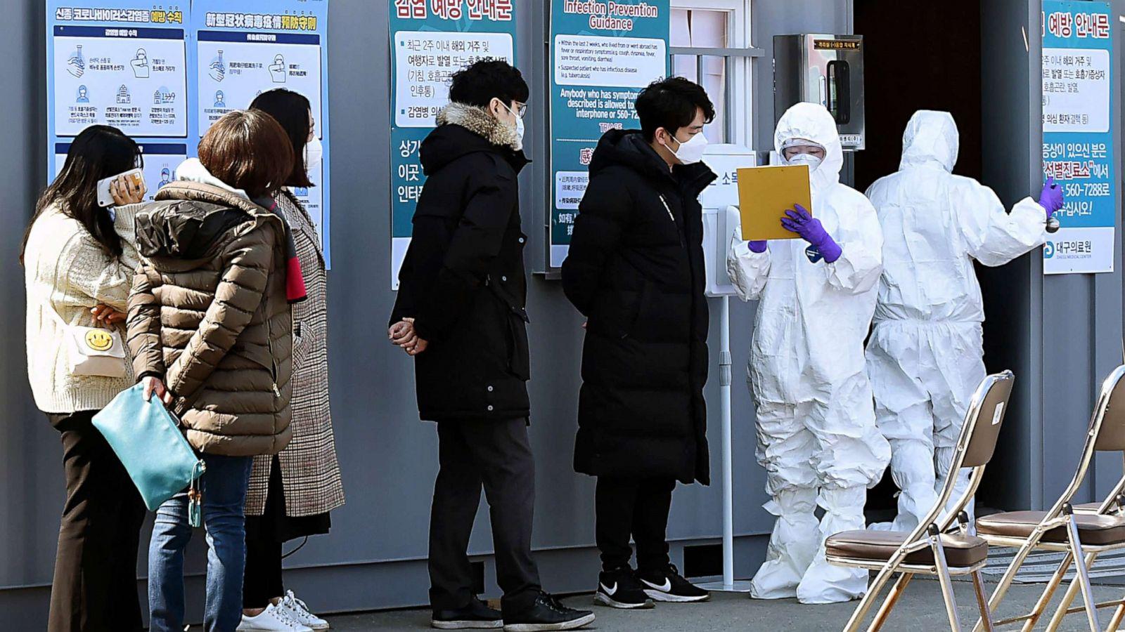 Coronavirus cases in South Korea up to 433 overnight - ABC News