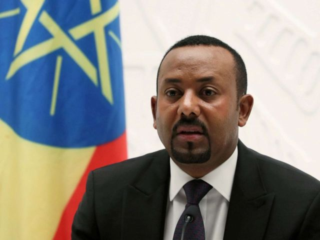 FILE PHOTO: Ethiopian Prime Minister Abiy Ahmed speaks at a news conference at his office in Addis Ababa, Ethiopia, Aug. 1, 2019.