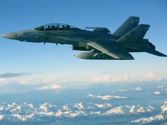 PHOTO: An F/A-18D Hornet, with Marine All-Weather Fighter Attack Squadron (VMFA) 224, conducts an aerial refuel in Norway, during Exercise Trident Juncture 18, Oct. 24, 2018.