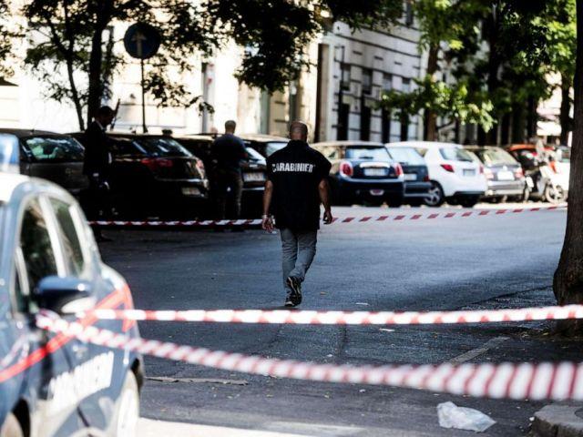PHOTO: The scene where Mario Cerciello Rega, a 35-year-old deputy brigadier in Italys Carabinieri paramilitary police force, was killed in Rome on July 26, 2019.