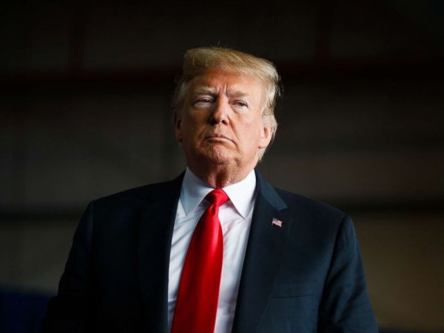 PHOTO: President Donald Trump arrives to speak at a campaign rally, Nov. 4, 2018, in Macon, Ga.