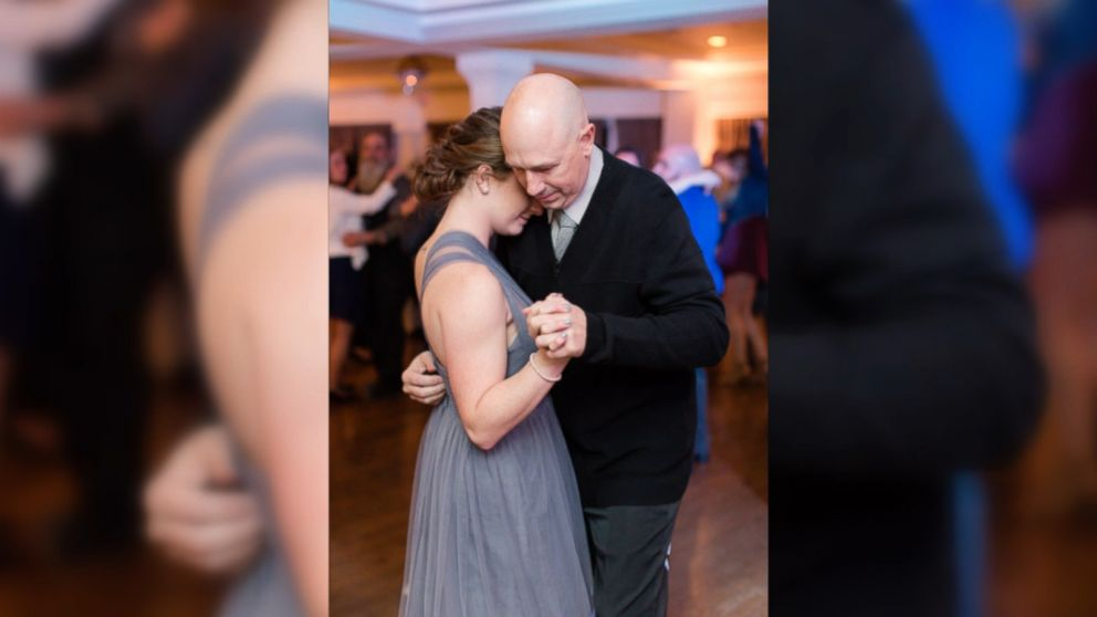 bride gives father daughter