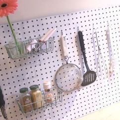 Pegboard Kitchen Floor Marble Diy To Declutter Your Abc News