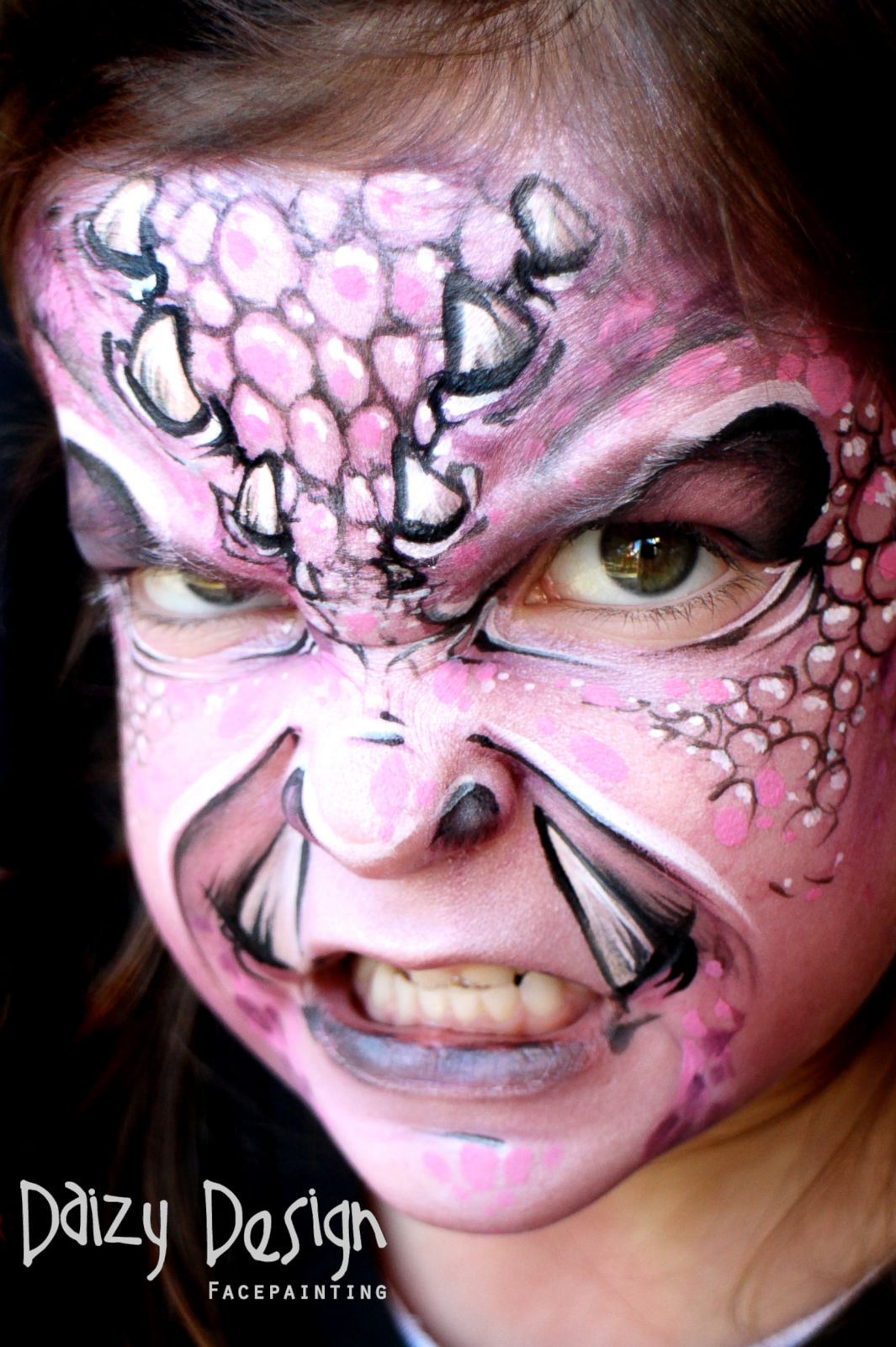 face painted kids bring
