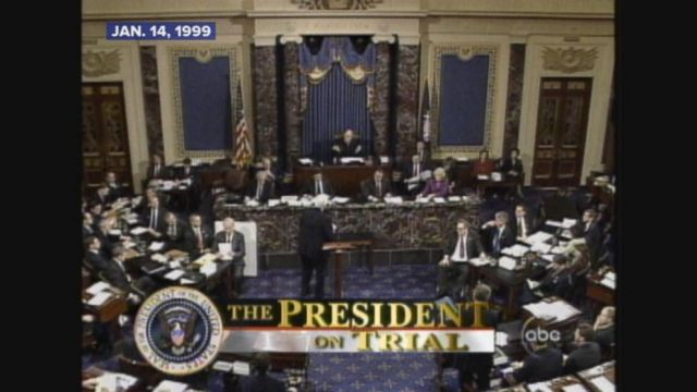 President Clintons impeachment trial is underway in the Senate.