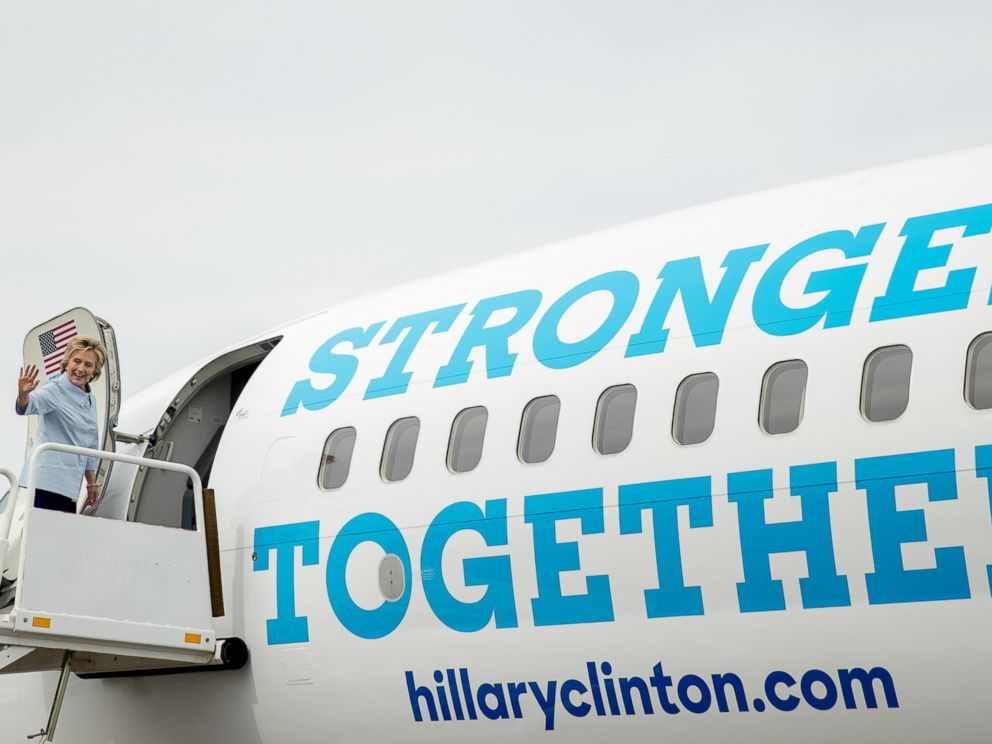 hillary clinton begins traveling