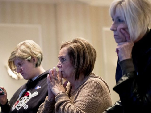PHOTO: Supporters monitor election returns at an event for Conor Lamb, Democratic congressional candidate for Pennsylvanias 18th district, March 13, 2018 in Canonsburg, Pennsylvania.