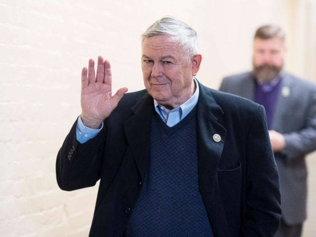PHOTO: Rep. Dana Rohrabacher arrives for the House Republican Conference meeting in the Capitol on Monday, Jan. 22, 2018.