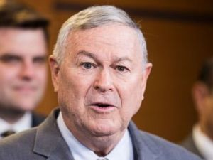 PHOTO: Rep. Dana Rohrabacher participates in a press conference on medical cannabis research reform, April 26, 2018 in Washington, D.C.