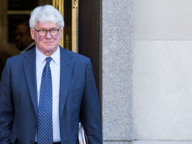 PHOTO: Greg Craig, former White House counsel to former President Barack Obama departs from the U.S. District Courthouse following a hearing on April 15, 2019 in Washington, D.C.