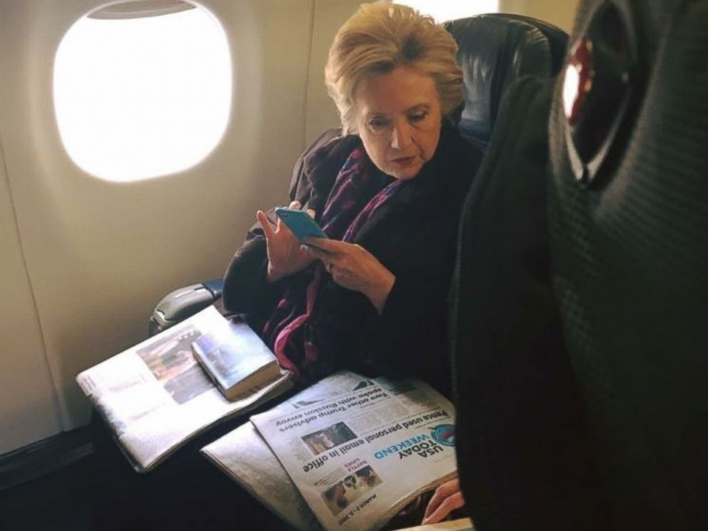 hillary clinton spotted on