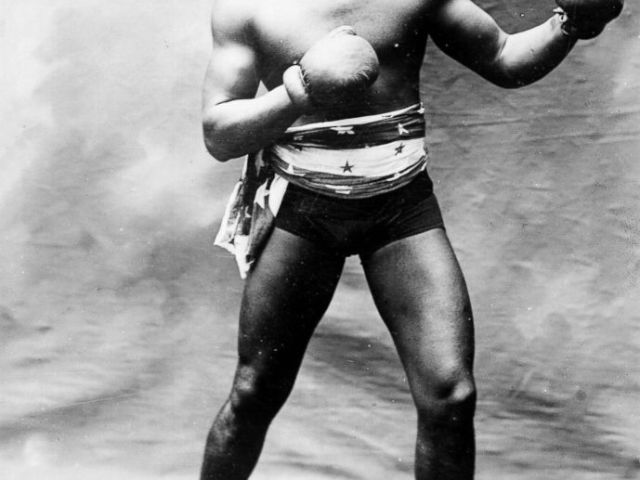 PHOTO: The boxer Jack Johnson in 1913.