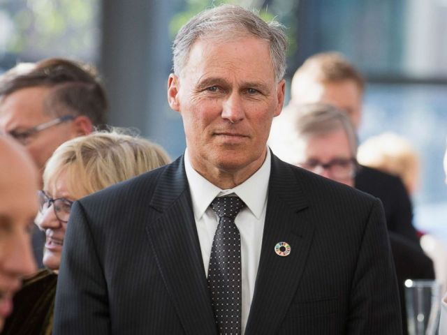 PHOTO: Washington Governor Jay Inslee chairs the Democratic Governors Association. Gov. Inslee attends a reception May 4, 2018 in Seattle, Washington.