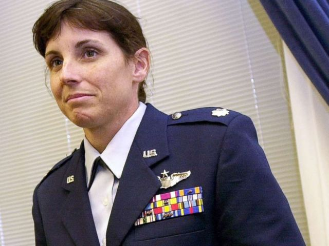 PHOTO: May 14, 2002 file photo of then-Air Force Lt. Col. Martha McSally on Capitol Hill in Washington.