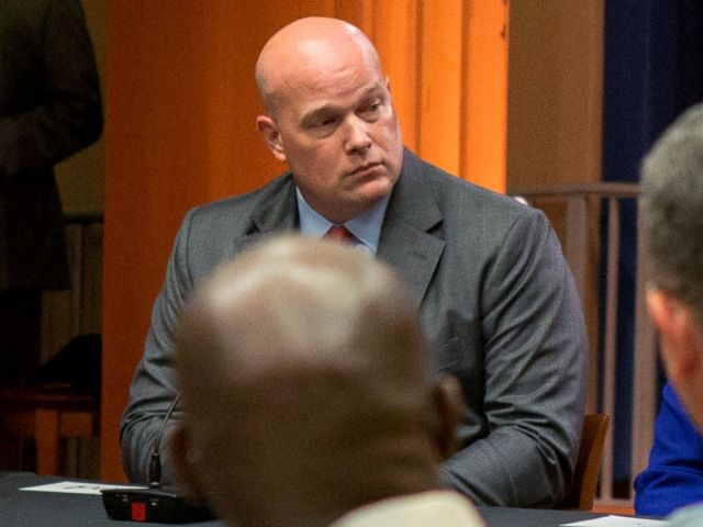 PHOTOS: Chief of Staff of Attorney General Matthew Whitaker attends a panel discussion with foreign liaison officers at the Justice Department in Washington on August 29, 2018.