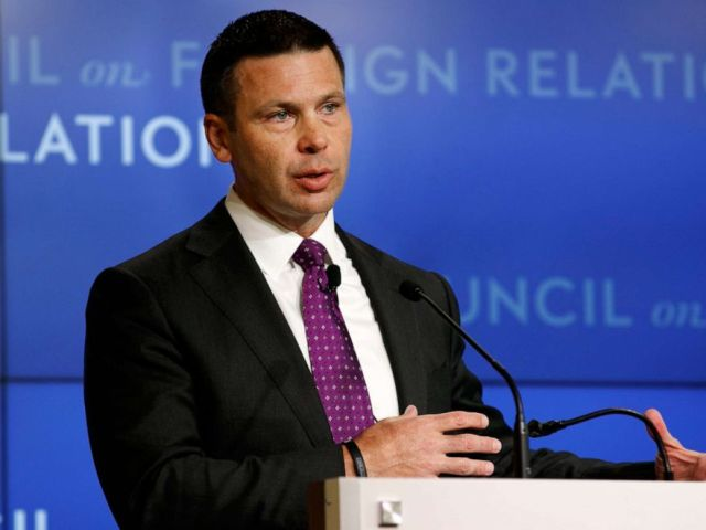 PHOTO: Acting Homeland Security Secretary Kevin McAleenan speaks at the Council on Foreign Relations, Sept. 23, 2019, in Washington.