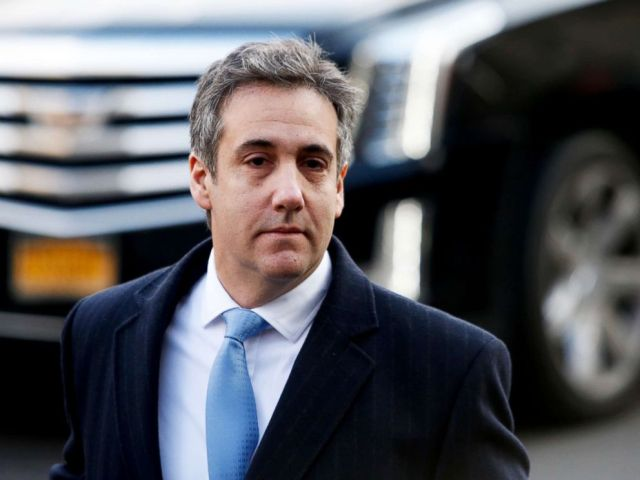 PHOTO: Michael Cohen, President Donald Trumps former personal attorney arrives at federal court for his sentencing hearing in New York City, Dec. 12, 2018.