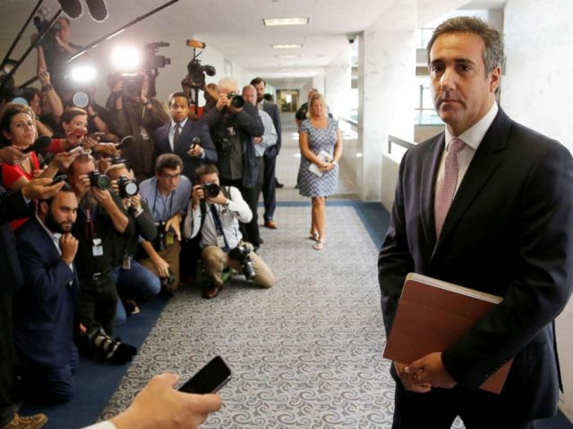 PHOTO: Michael Cohen, personal attorney for President Donald Trump, on Capitol Hill in Washington, Sept. 19, 2017.